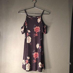 cute purple floral dress
